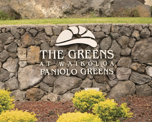 Scenic exterior view of the Paniolo Greens resort.