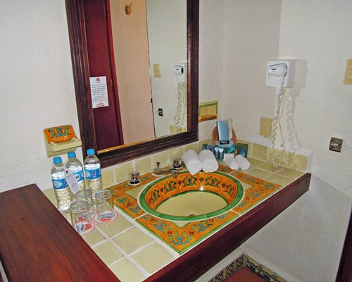 A single sink vanity at the resort.