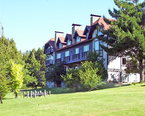 An exterior view of the Penon Del Lago resort.