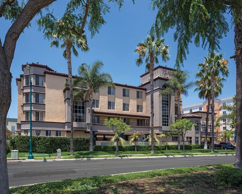 Street view of the Peacock Suites.