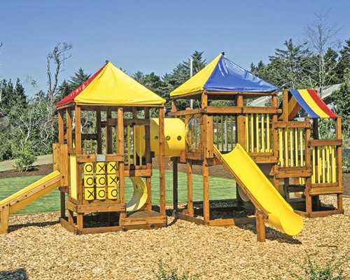 A view of kids playscape.