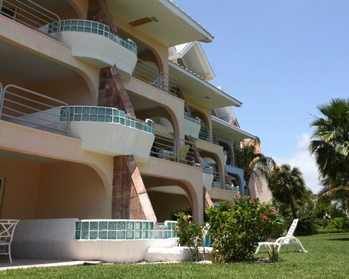 Scenic exterior view of The Ocean at Taino Beach with multiple balconies.