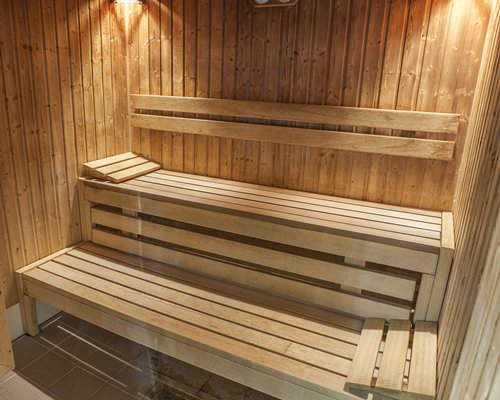 A sauna at the Cromer Country Club.