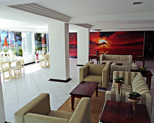 Lounge area at Hotel Marinas Tamandare.