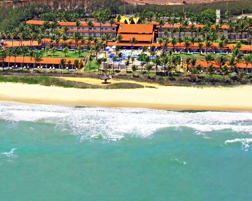 An aerial view of the ocean alongside the Hotel Marsol.