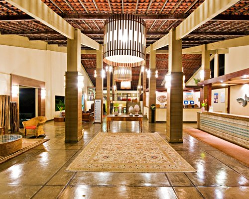 Reception and lounge area at Hotel Marsol.