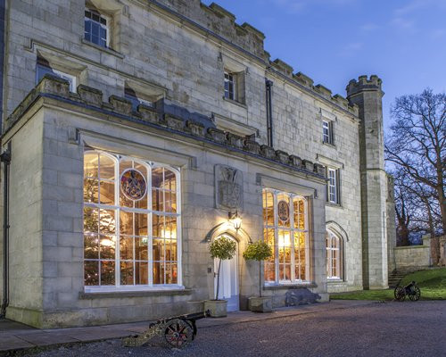 An exterior view of Thurnham Hall resort.
