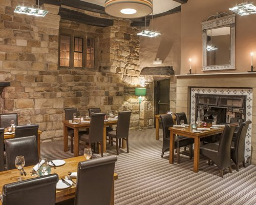 An indoor fine dining area at the Thurnham Hall resort.