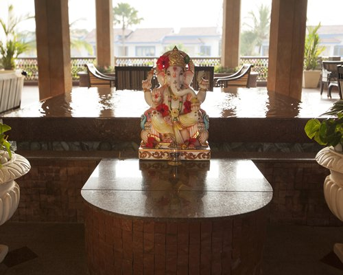 A view of Lord Ganesha statue at the resort.