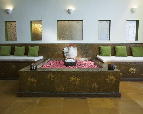 An indoor lounge area at Karma Royal Haathi Mahal.