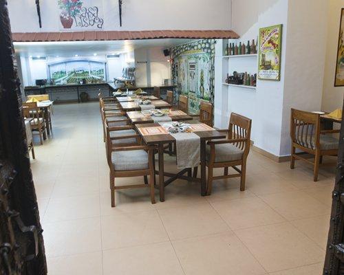 The view of a restaurant at Karma Royal Haathi Mahal.