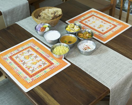 View of some food item on a dining table.