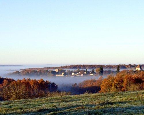 Hill top view from the Domaine De Gavaudun.
