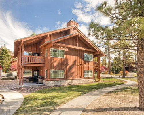 Scenic exterior view of WorldMark Big Bear resort unit.