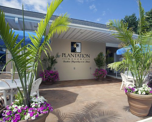 Pathway and entrance of Plantation Resort.