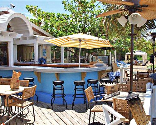 An outdoor snack bar at Chenay Bay Beach Resort.