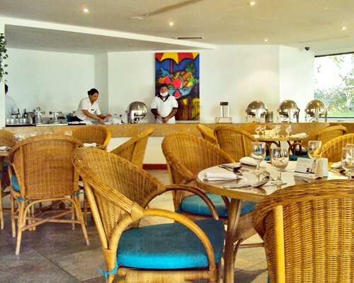Indoor restaurant at Santamar Club & Convention Center.