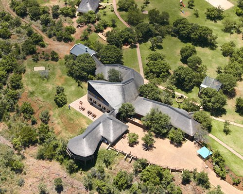 An aerial view of Monateng Safari Lodge.