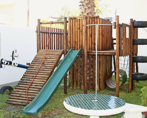 Kids playground with playscape.