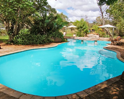 Large outdoor swimming pool.