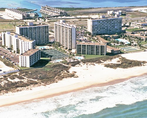 Aerial view of Royale Beach And Tennis Club.