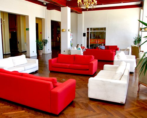 The lounge area at Gran Hotel Pucon.
