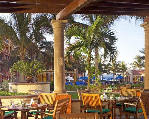 An outdoor fine dining restaurant.