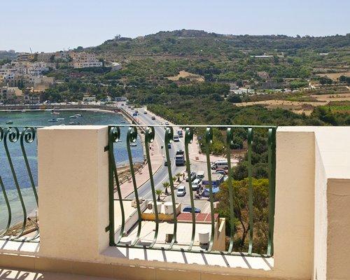 Balcony view of the resort.