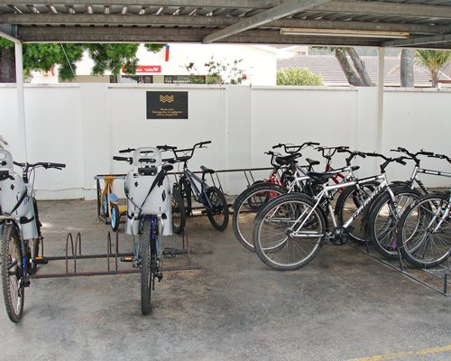View of multiple bikes at Placid Waters.