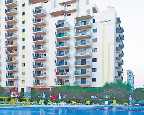 Exterior view of Amarilis Club's outdoor swimming pool.