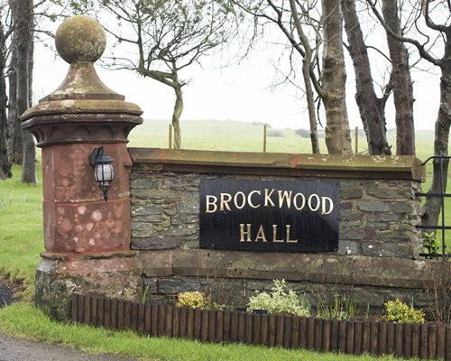 A signboard of the Brockwood Hall resort.