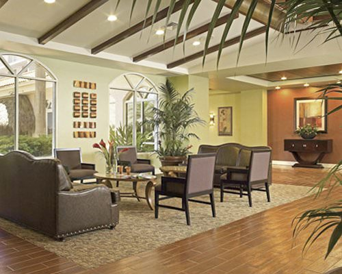 An indoor recreation area at the resort.