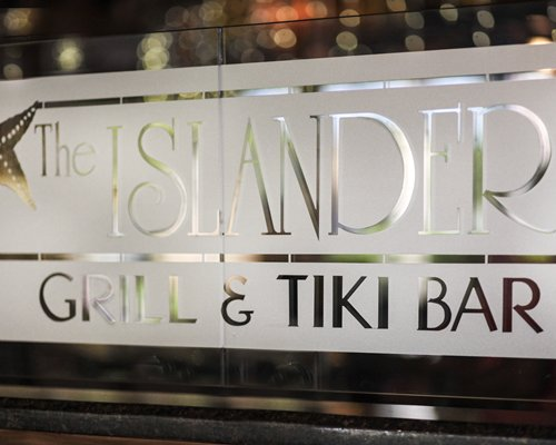 Logo of the Tiki bar.