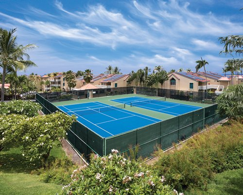 View of outdoor tennis courts alongside the Kona Coast Resort II.