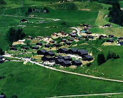 An aerial view of the Royal Alpage Club resort.