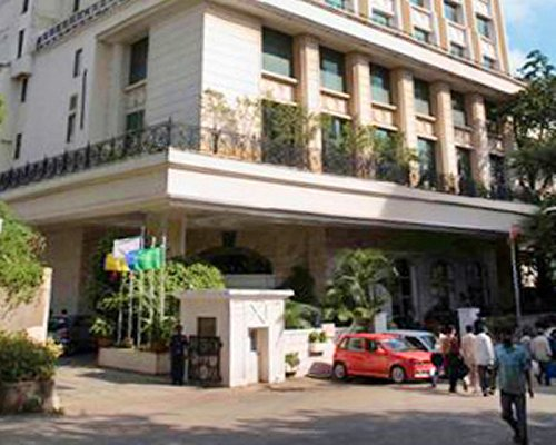 An exterior view of the VITS Mumbai resort.