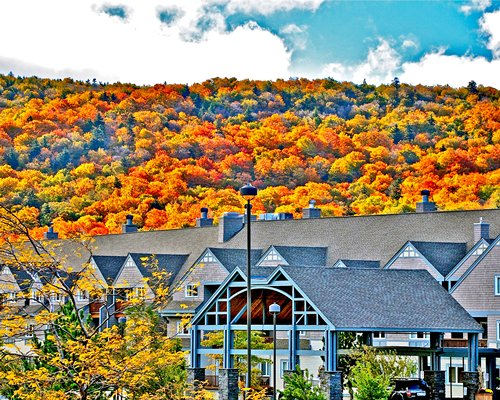 Scenic exterior view of Killington Grand Hotel & Crown Club.