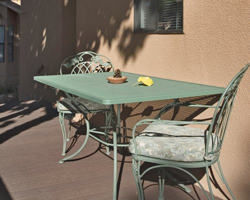 View of patio furniture in an outdoor area.