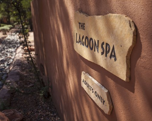 Signboard of The Lagoon Spa.