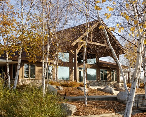 Scenic exterior view of Whitebirch at Breezy Point Resort.