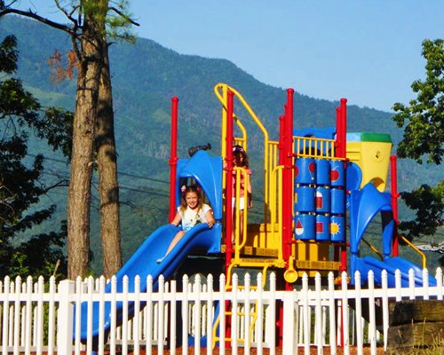 Playground with kids playscape.