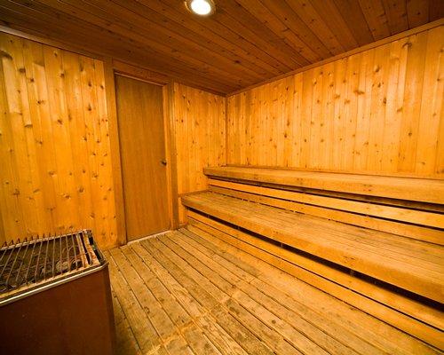 A well furnished sauna.