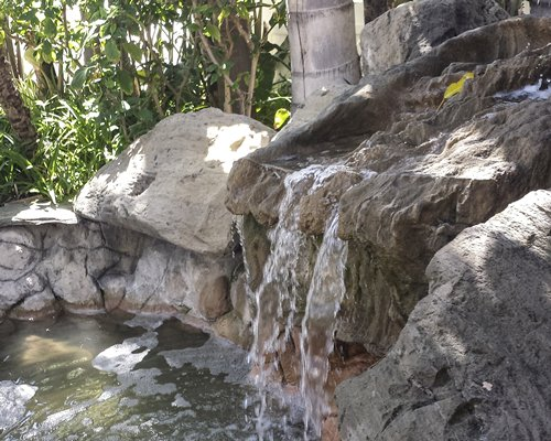 A scenic grotto waterfall.