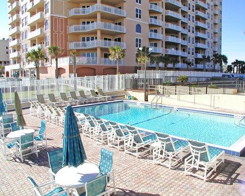 Outdoor swimming pool alongside the resort.