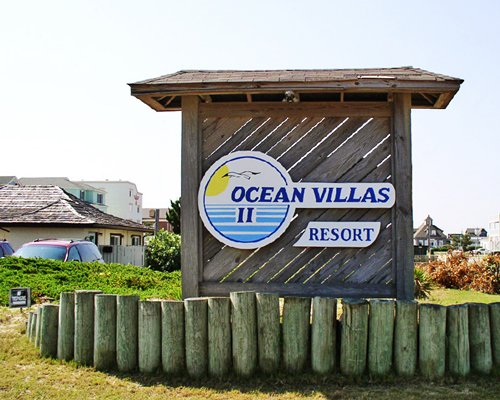 Signboard of the Ocean Villas II resort.