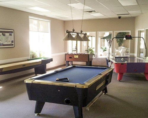 An indoor recreation room.