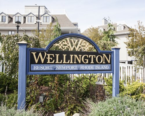 Signboard of Wellington Resort Newport Rhode Island.