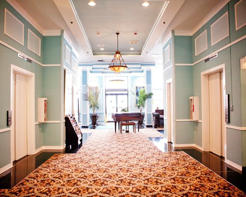 A corridor at the Legacy Vacation Club Brigantine Beach resort.