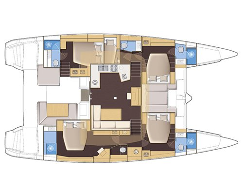 Floor plan of boat.