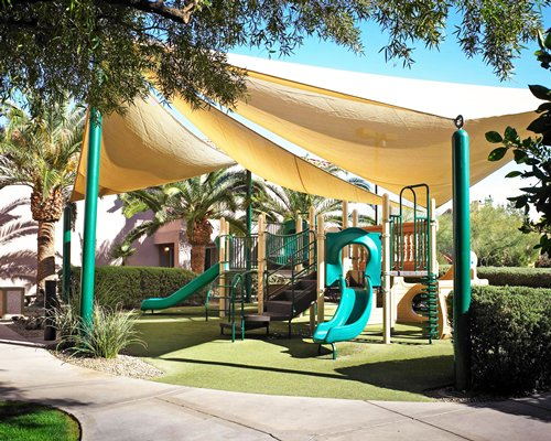 Scenic playground with kids playscape.